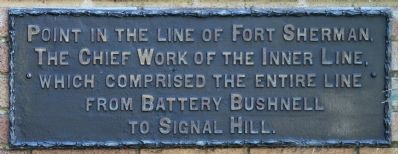 Point in the Line of Fort Sherman Marker image. Click for full size.