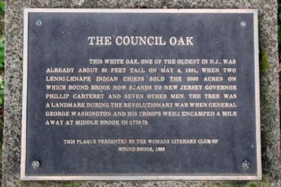The Council Oak Marker image. Click for full size.