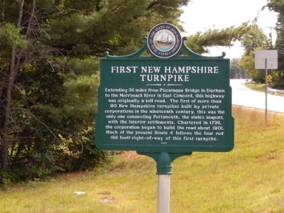 First New Hampshire Turnpike Marker image. Click for full size.