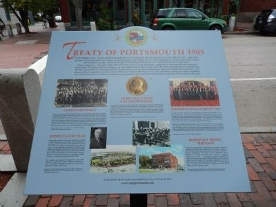 Treaty of Portsmouth 1905 Marker image. Click for full size.