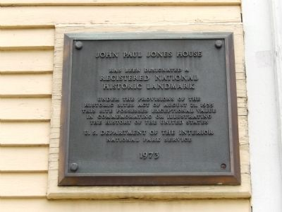 John Paul Jones House Marker image. Click for full size.