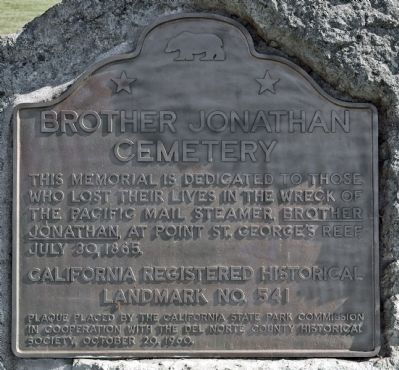 Brother Jonathan Cemetery Marker image. Click for full size.