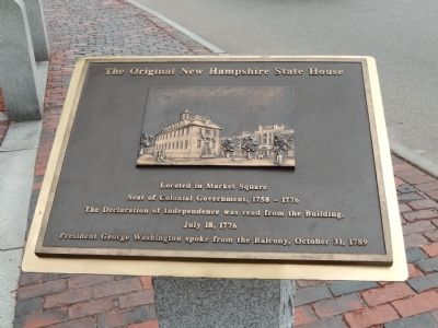 The Original New Hampshire State House Marker image. Click for full size.