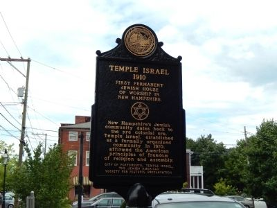 Temple Israel Marker image. Click for full size.
