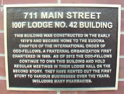 711 Main Street Marker image. Click for full size.