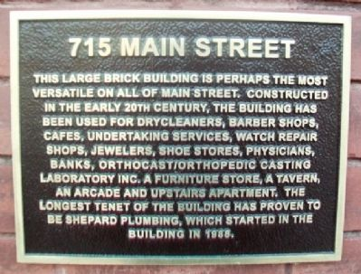 715 Main Street Marker image. Click for full size.