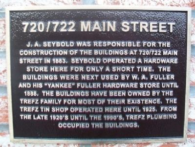 720/722 Main Street Marker image. Click for full size.