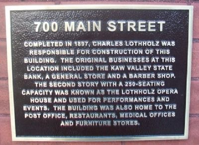 700 Main Street Marker image. Click for full size.