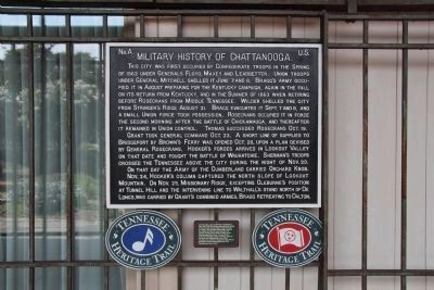 Military History of Chattanooga Marker image. Click for full size.