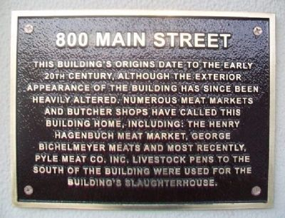 800 Main Street Marker image. Click for full size.