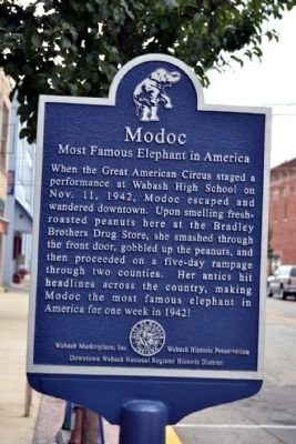 Modoc Marker image. Click for full size.