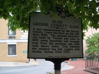 Olde Greene County Gaol Marker image. Click for full size.