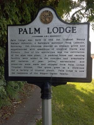 Palm Lodge Marker image. Click for full size.