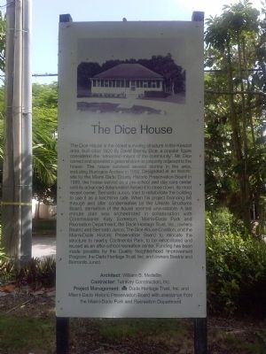 The Dice House Marker image. Click for full size.