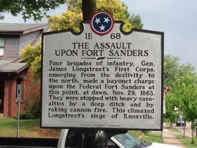 The Assault Upon Fort Sanders Marker image. Click for full size.