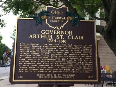 Governor Arthur St. Clair 1734-1818 Marker image. Click for full size.
