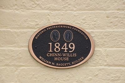 The Chinn-Willis House Marker image. Click for full size.