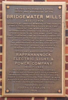 Bridgewater Mills Marker image. Click for full size.