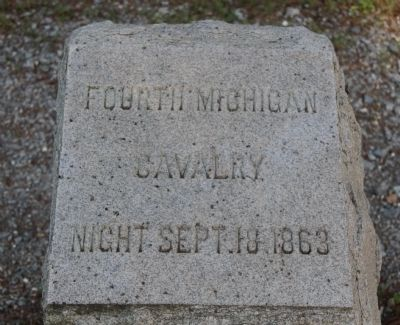 4th Michigan Cavalry Marker image. Click for full size.