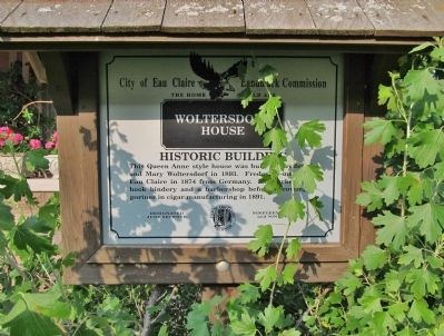 Woltersdorf House Marker image. Click for full size.
