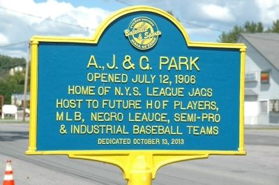A. J. & G. Park Marker image. Click for full size.