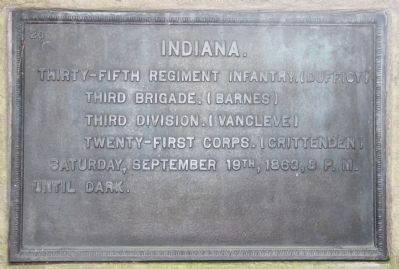 35th Indiana Infantry Marker image. Click for full size.