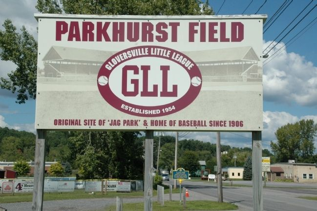 A. J. & G. Park Marker at Parkhurst Field image. Click for full size.