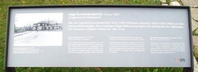 Camp Headquarters / Lagerkommandantur Marker image. Click for full size.