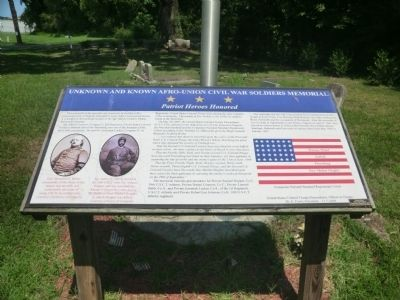 Unknown and Known Afro-Union Civil War Soldiers Memorial Marker image. Click for full size.