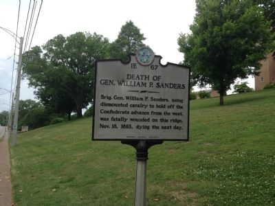 Death of Gen. William P. Sanders Marker image. Click for full size.