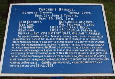 Turchin's Brigade. Marker image. Click for full size.