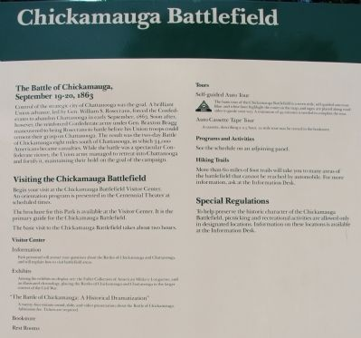 The Battle of Chickamauga Marker image. Click for full size.