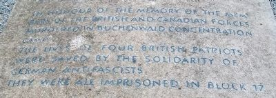 British and Canadian Military Victims of Buchenwald Memorial Detail image. Click for full size.