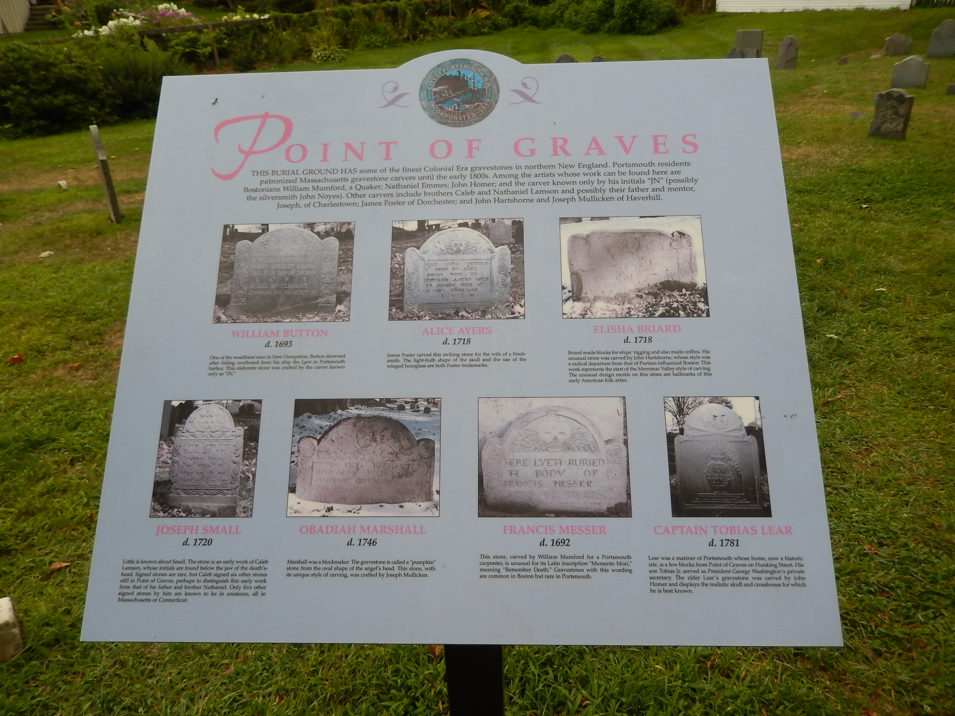 Point of Graves Marker