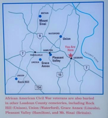 Map showing other selected cemeteries in Loudoun image. Click for full size.