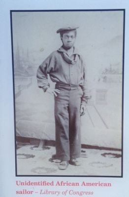 Unidentified African American sailor image. Click for full size.
