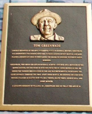 Tom Greenwade Marker image. Click for full size.