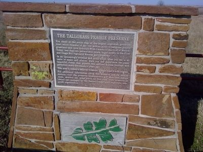 The Tallgrass Prairie Preserve Marker image. Click for full size.