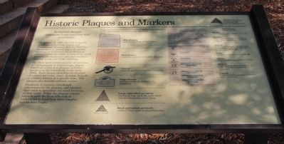 Historic Plaques and Markers Marker image. Click for full size.