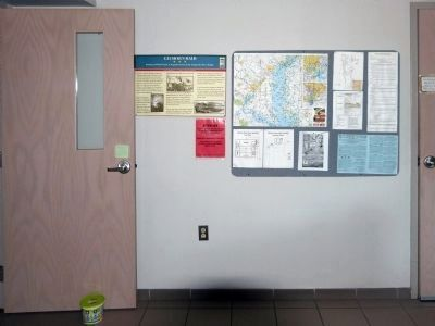 Gilmor&#39;s Raid Marker<br>Inside the Mariner&#39;s Point Visitors Center image. Click for full size.