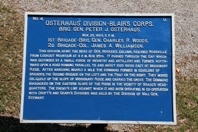Osterhaus' Division Marker image. Click for full size.