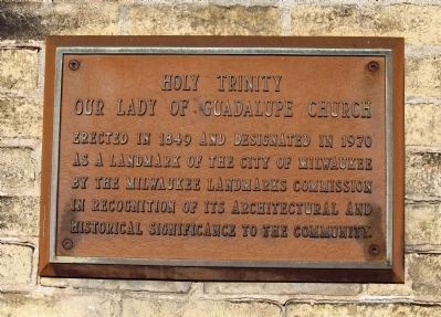 Holy Trinity - Our Lady of Guadalupe Church Marker image. Click for full size.