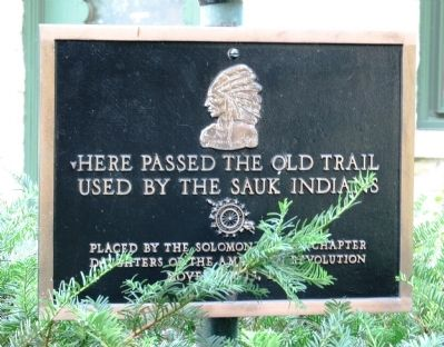 Old Sauk Trail Marker image. Click for full size.