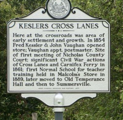Kesslers Cross Lanes Marker image. Click for full size.