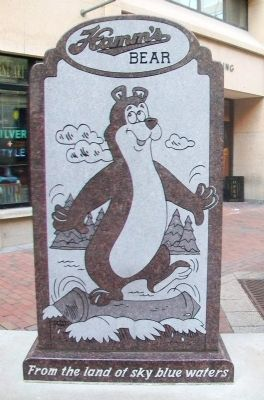 Hamm's Bear Marker (front) image. Click for full size.