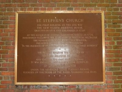 St. Stephen's Church Marker image. Click for full size.