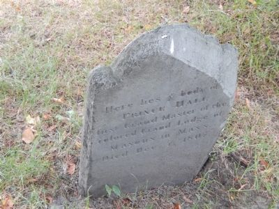 Prince Hall Gravestone image. Click for full size.