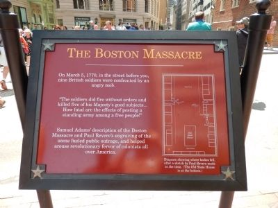 The Boston Massacre Marker image. Click for full size.