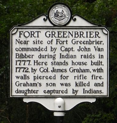 Fort Greenbrier Marker image. Click for full size.