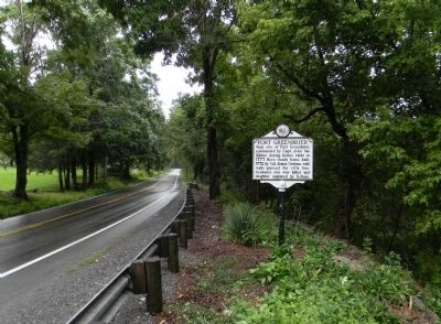 Wide view of the Fort Greenbrier Marker image. Click for full size.